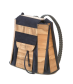 BACKPACK LEATHER SATIN WALNUT