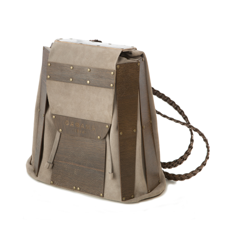 BACKPACK LEATHER SMOKED OAK