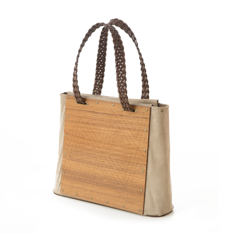 TEAK WOOD SHOULDERBAG
